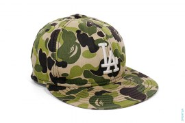 ABC Camo Fitted Baseball Cap by A Bathing Ape x LA Dodgers