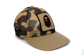 All Mesh Apehead Patch Snapback by A Bathing Ape
