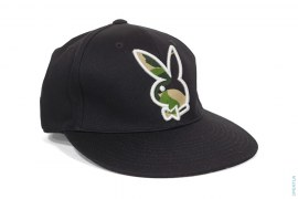 ABC Camo Bunny Logo Fitted Baseball Cap by A Bathing Ape x Playboy