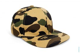 Sta 1st Camo Canvas Snapback by A Bathing Ape