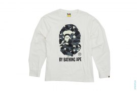 City Camo Classic Apehead Logo Long Sleeve Tee by A Bathing Ape
