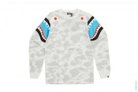 Double Shark City Camo Long Sleeve Tee by A Bathing Ape