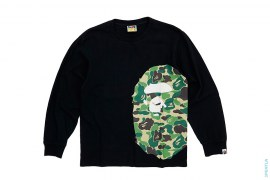Giant Side ABC Camo Apehead Long Sleeve Tee by A Bathing Ape