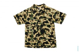 1st Bendy Camo Short Sleeve Button-Up Shirt by A Bathing Ape x Kaws