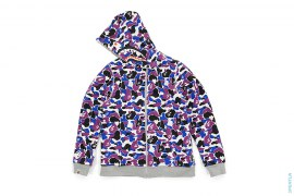 Bape Store Hong Kong Camo 11th Anniversary Reversible Shark Full Zip Hoodie by A Bathing Ape
