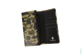 1st Camo Leather Wallet by A Bathing Ape