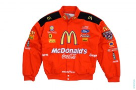 Mcdonalds Drive Thru Crew Race Jacket by Vintage Nascar