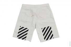 Season 1 Caution Stripe Denim Shorts by Off-White
