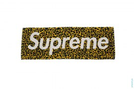 Cheetah Print Box Logo Towel by Supreme