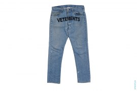 Reconstructed Embroidered Denim by Vetements x Levi's