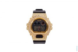 Swarovski Gold G-Shock Watch by A Bathing Ape