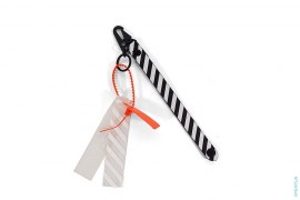 Caution Stripe Key Ring Accessory by Off-White