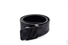 LV Buckle Damier Leather Belt by Louis Vuitton