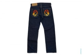 Graidient Emboidered Moonman  Raw Denim Jeans by BBC/Ice Cream