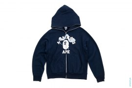 Bendy College Logo Full Zip Hoodie by A Bathing Ape x Kaws
