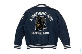 General Made Wappen Sweat Varsity Jacket by A Bathing Ape