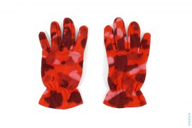 Mook Novelty Color Camo Fleece Gloves by A Bathing Ape