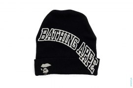 Mad Apeface Block Letter Cuffed Beanie by A Bathing Ape