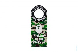 Busy Works ABC Camo Apehead Do Not Disturb Door Tag by A Bathing Ape