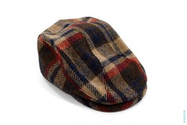 Bape Check Tweed Flat Hunting Cap by A Bathing Ape x Harris Tweed