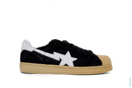 Pony Hair Animal Skullsta Shell Toe Sneakers by A Bathing Ape