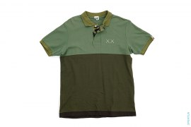 2 Tone Bendy 1st Camo Accent Polo Shirt by A Bathing Ape x Kaws