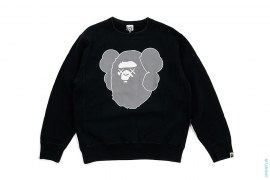 Companion Apehead Crewneck Sweatshirt by A Bathing Ape x Kaws