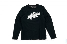 Neon Camo Bapesta Logo Reversible Long Sleeve Tee by A Bathing Ape