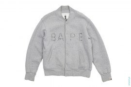 BAPE Swaro Sweat Varsity Jacket by A Bathing Ape