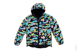 Cotton Candy Multi Camo Reversible Puffer Down Jacket by A Bathing Ape