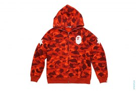 Color Camo Sta Apehead Sleeve Full Zip Hoodie by A Bathing Ape