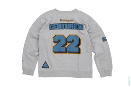 BAPE 22 Twill Print Padded Crewneck Sweatshirt by A Bathing Ape