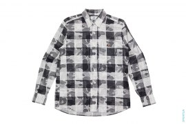 Grid ABC Camo Button-Up Shirt by A Bathing Ape