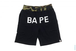 BAPE Logo 1st Camo Accent Sweatshorts by A Bathing Ape