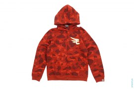 Red Eagle Camo Full Zip Hoodie by A Bathing Ape