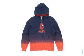 BAPE Spiderman Gradient Dip Dye Full Zip Hoodie by A Bathing Ape x Marvel Comics