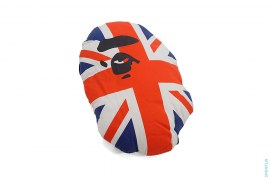 Apehead Union Jack Pillow by A Bathing Ape