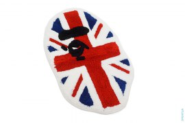 Union Jack Apeface Rug by A Bathing Ape