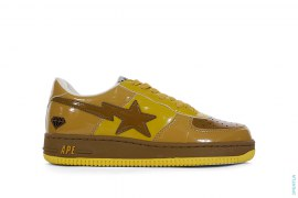 NFS Gold Member Bapesta Low-Top Sneakers by A Bathing Ape