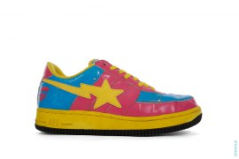 OG Patent X-Eyes Apeface Bapesta Low-Top Sneakers by A Bathing Ape x Kaws