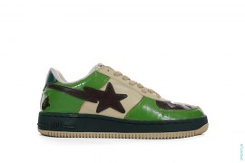OG ABC Camo Patent Bapesta Low-Top Sneakers by A Bathing Ape