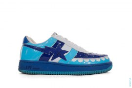 ABC Camo Chomper Bapesta Low-Top Sneakers by A Bathing Ape x Kaws