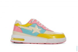 Glitter Cotton Candy Multi Camo Roadsta Low-Top Sneakers by A Bathing Ape
