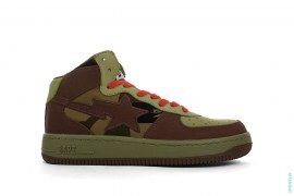 1st Camo Bapesta Canvas Mid-Top Sneakers by A Bathing Ape