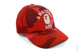 Color Camo College Logo Mesh Snapback by A Bathing Ape