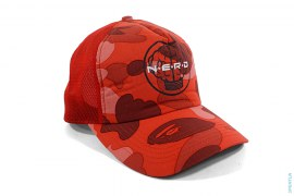 Brain Logo Pharrell Color Camo Mesh Snapback by NERD x A Bathing Ape
