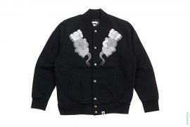 Bendy Sweat Varsity Jacket by A Bathing Ape x Kaws