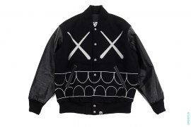 X-Eyes Chomper Varsity Jacket by A Bathing Ape x Kaws