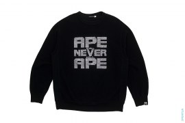 ASNKA Box Logo Full Swaro Crewneck Sweatshirt by A Bathing Ape