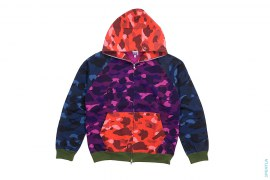 Crazy Color Camo Full Zip Hoodie by A Bathing Ape